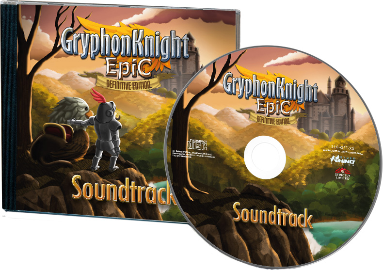 gryphon knight epic definitive edition physical retail release strictly limited games 3rd anniversary cd soundtrack cover www.limitedgamenews.com