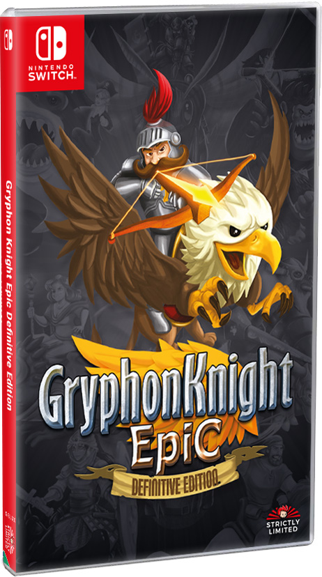 gryphon knight epic definitive edition physical retail release strictly limited games 3rd anniversary nintendo switch cover www.limitedgamenews.com