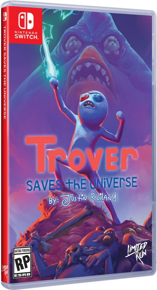 trover saves the universe physical retail release standard edition limited run games nintendo switch cover www.limitedgamenews.com