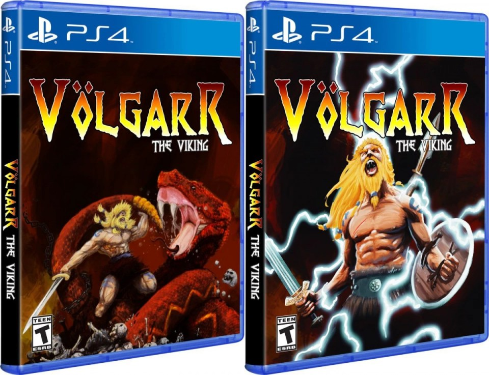 völgarr the viking physical retail release playstation 4 standard and variant cover www.limitedgamenews.com