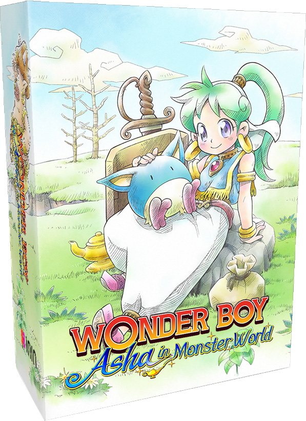 wonder boy asha in monster world inin games strictly limited games partner store exclusive collectors edition playstation 4 nintendo switch cover www.limitedgamenews.com