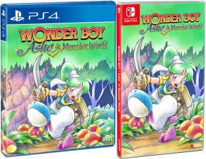 wonder boy asha in monster world inin games strictly limited games partner store exclusive standard edition playstation 4 nintendo switch cover www.limitedgamenews.com