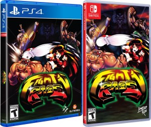 fight n rage standard edition physical retail release limited run games playstation 4 nintendo switch cover www.limitedgamenews.com