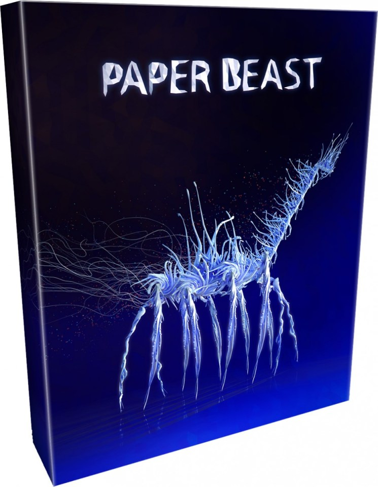 paper beast collectors edition playstation vr physical retail release limited run games ps4 psvr cover www.limitedgamenews.com