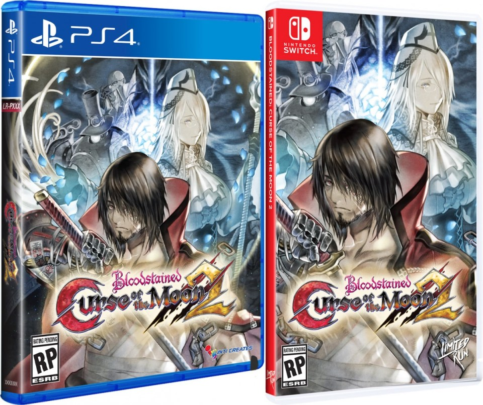 bloodstained curse of the moon 2 physical retail release standard edition limited run games playstation 4 nintendo switch cover www.limitedgamenews.com