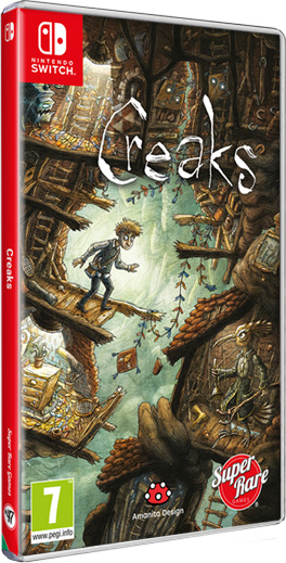 creaks physical retail release super rare games nintendo switch cover www.limitedgamenews.com