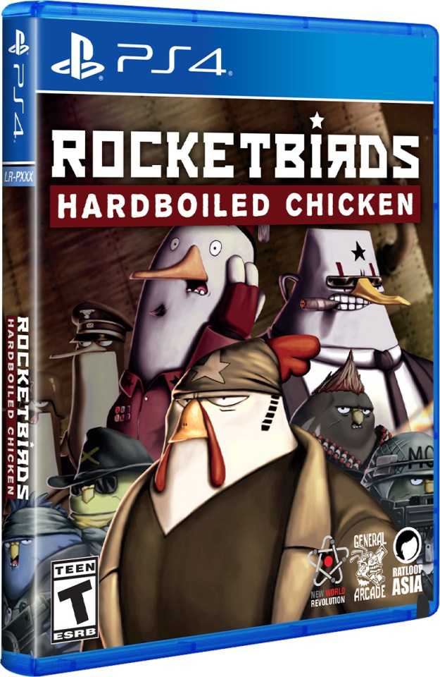rocketbirds hardboiled chicken physical retail release limited run games playstation 4 cover www.limitedgamenews.com