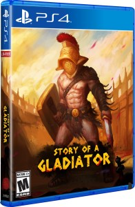 story of a gladiator physical retail release limited run games playstation 4 cover www.limitedgamenews.com