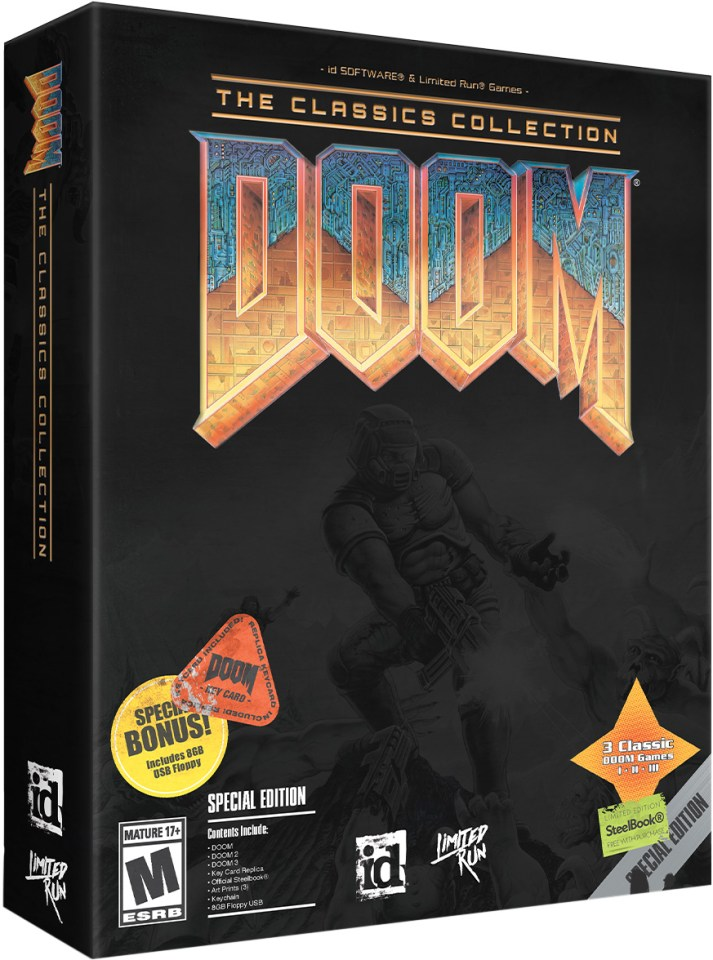doom the classics collection physical retail release limited run games special edition playstation 4 nintendo switch cover www.limitedgamenews.com