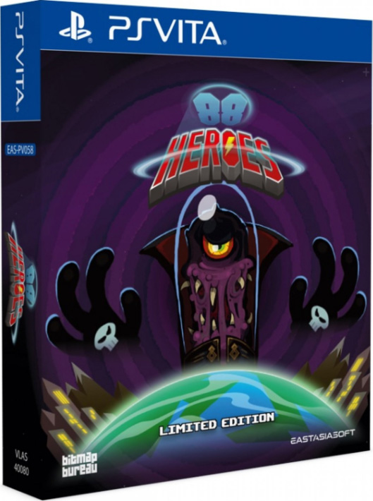 88 heroes physical retail release limited edition asia multi-language eastasiasoft playstation vita cover www.limitedgamenews.com