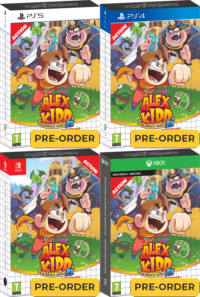 alex kidd in miracle world dx signature edition signature edition games xbox one playstation 4 playstation 5 nintendo switch cover www.limitedgamenews.com