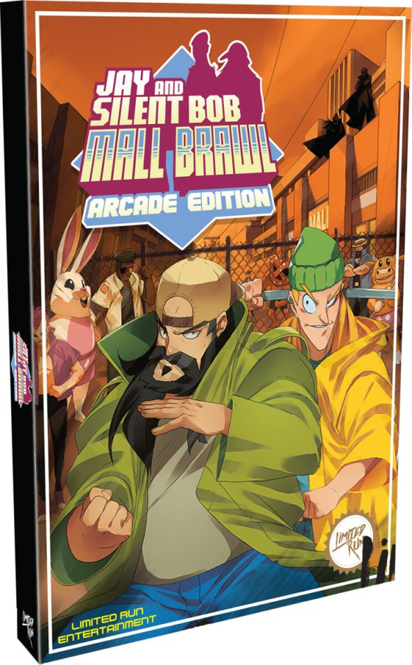 jay and silent bob mall brawl arcade edition physical retail release classic edition limited run games playstation 4 cover www.limitedgamenews.com