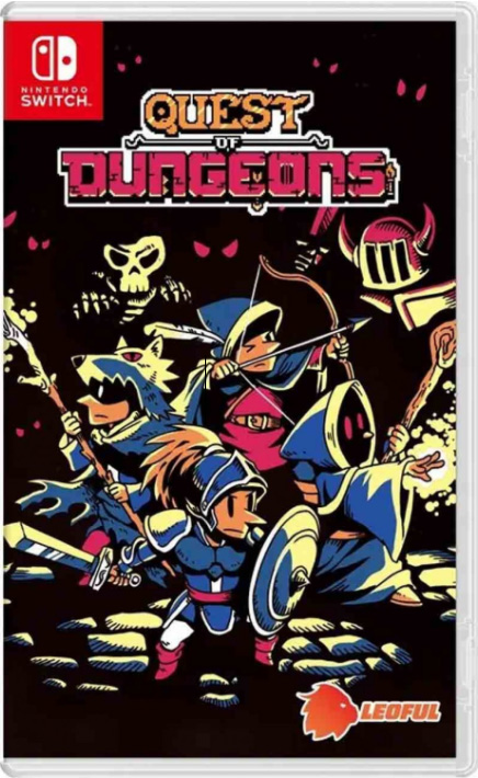 quest of dungeons physical retail release leoful asia multi-language nintendo switch cover www.limitedgamenews.com