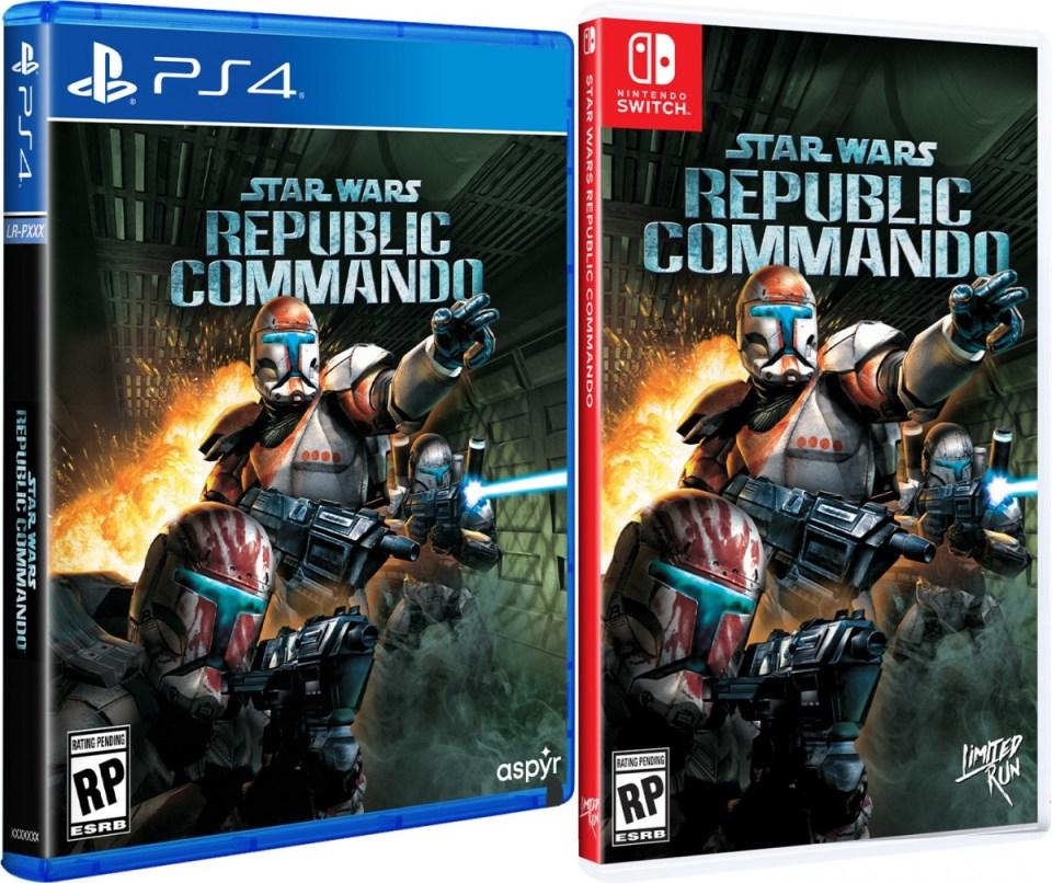 star wars republic commando physical retail game limited run games standard edition playstation 4 nintendo switch cover www.limitedgamenews.com