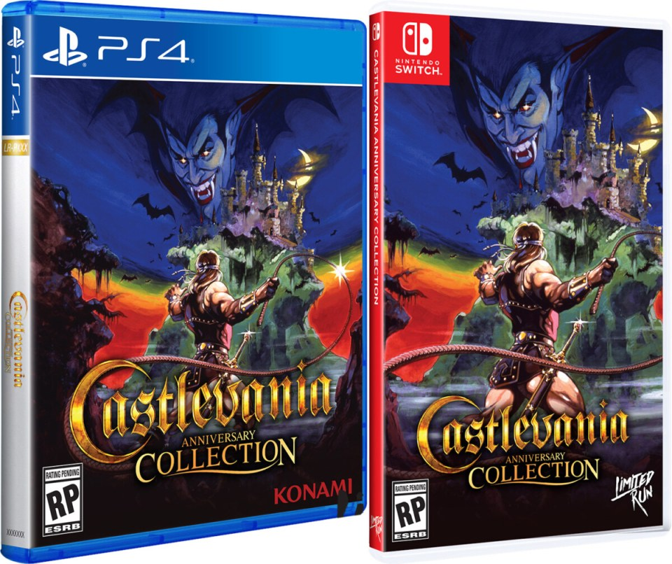castlevania anniversary collection physical retail release standard edition limited run games nintendo playstation 4 nintendo switch cover www.limitedgamenews.com
