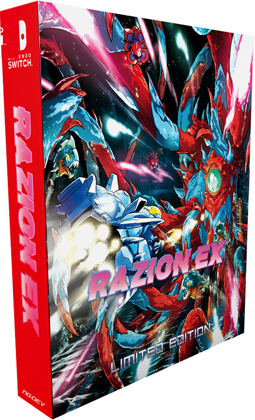 razion ex physical retail release limited edition ngdev team nintendo switch cover www.limitedgamenews.com