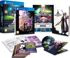 sword of the necromancer physical retail release ultra collectors edition ultra collectors playstation 4 nintendo switch cover www.limitedgamenews.com