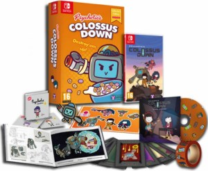 colossus down physical retail release destroy em up edition tesura games playstation 4 nintendo switch cover www.limitedgamenews.com