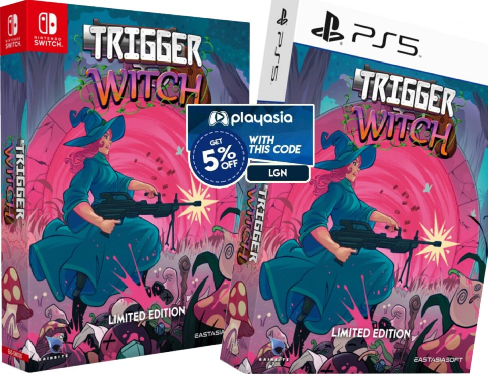 coupon play asia trigger witch limited edition physical retail release asia english multi-language eastasiasoft playstation 5 nintendo switch cover www.limitedgamenews.com