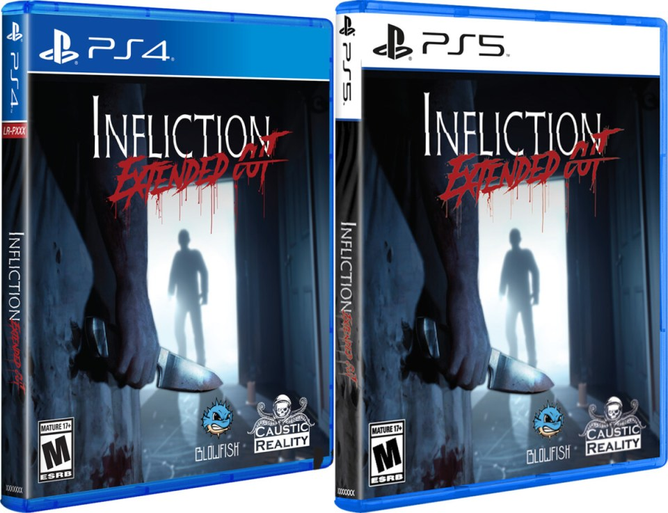 infliction extended cut physical retail release limited run games playstation 4 playstation 5 cover www.limitedgamenews.com