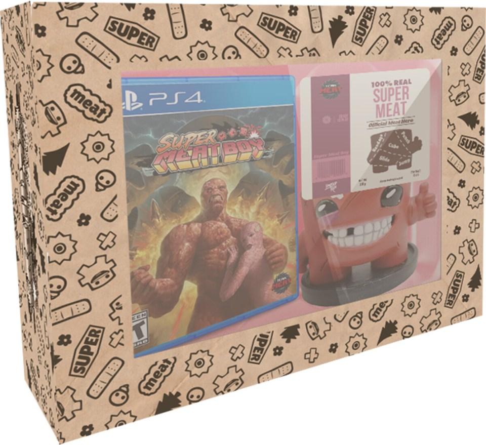 super meat boy standard edition physical retail release limited run games playstation 4 nintendo switch playstation vita cover www.limitedgamenews.com