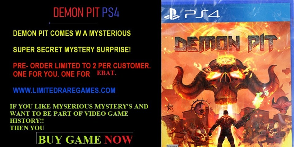 demon pit limited rare games shadow drop physical retail release limited rare games playstation 4 www.limitedgamenews.com