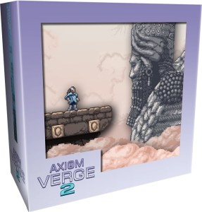 axiom verge 2 collectors edition physical retail release limited run games playstation 4 nintendo switch cover www.limitedgamenews.com