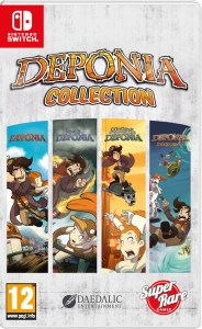 deponia collection standard edition physical retail release super rare games nintendo switch cover www.limitedgamenews.com