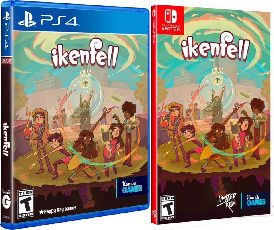 ikenfell physical retail release limited run games playstation 4 nintendo switch cover www.limitedgamenews.com