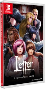 the letter a horror visual novel standard edition physical retail release asia multi-language english eastasiasoft nintendo switch cover www.limitedgamenews.com