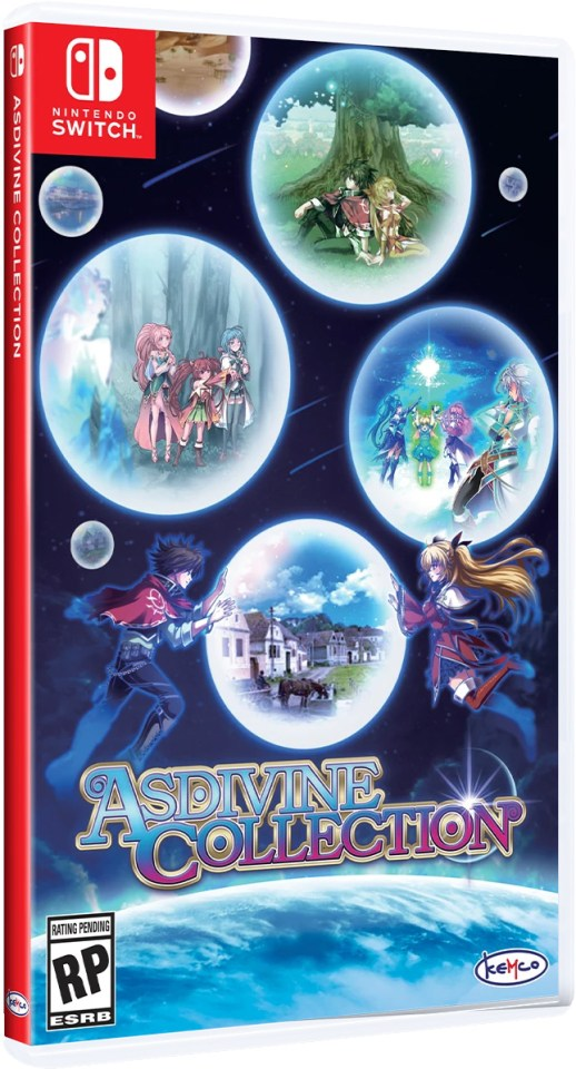 asdivine collection physical retail release clear river games nintendo switch cover www.limitedgamenews.com