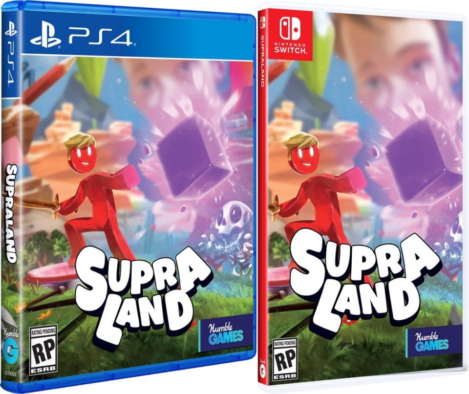 supraland physical retail release humble games playstation 4 nintendo switch cover www.limitedgamenews.com