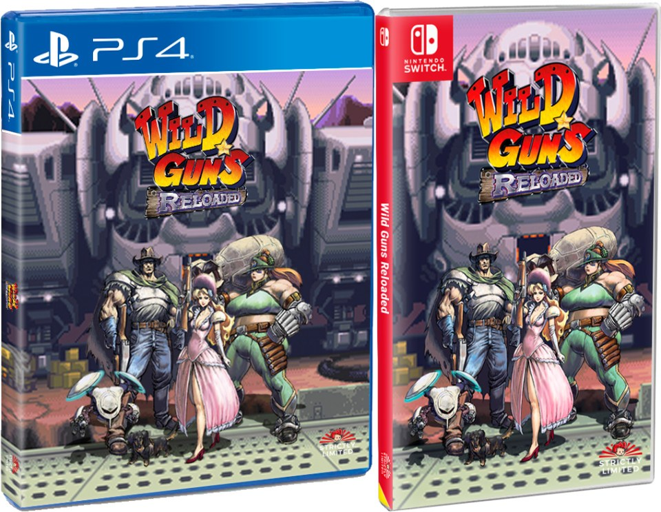 wild guns reloaded standard edition physical retail release playstation 4 nintendo switch cover www.limitedgamenews.com