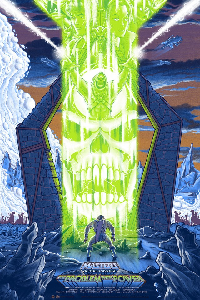"「マスター・オブ・ユニバース」 Masters of the Universe: The Problem with Power  by Mike Saputo.  24""x36"" screen print. Hand numbered.  Edition of 175.  Printed by D&L Screenprinting.  US$45"