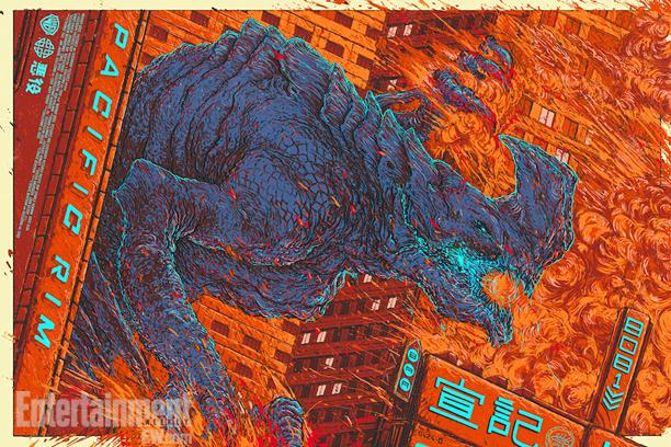 """「パシフィック・リム(怪獣)」PACIFIC RIM (Kaiju)  by Ash Thorp Size: 24"""" x 36"""" Edition: 350 US$50"""