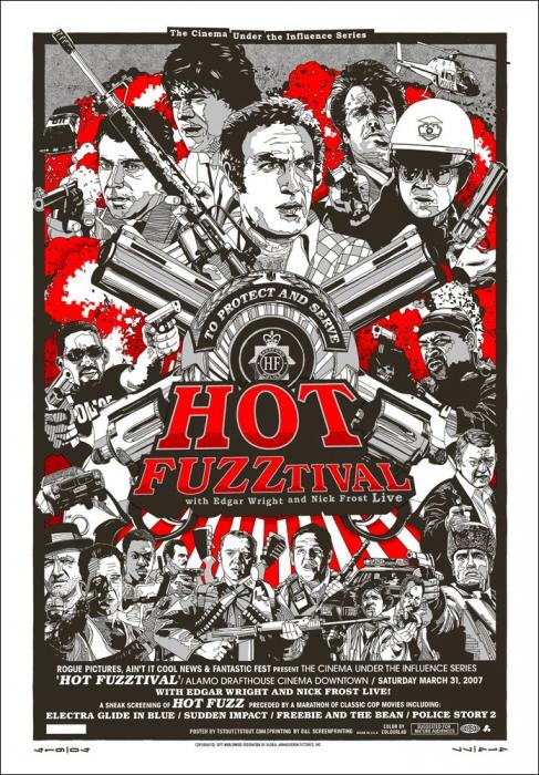 Hot Fuzztival - Reguler Poster by Tyler Stout