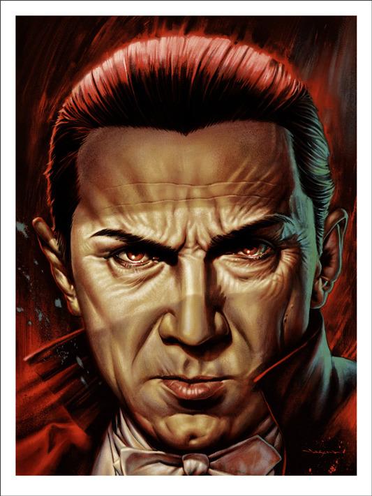 """「ベラ・ルゴシ」Bela Lugosi Poster by Jason Edmiston.  18""""x24"""" screen print.  Hand numbered. Edition of 175.  Printed by D&L Screenprinting.  US$45"""