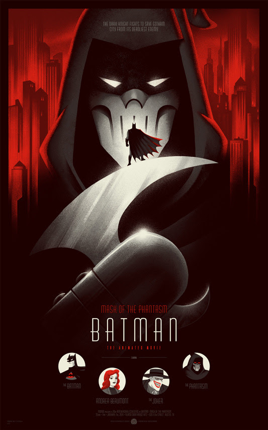 "「バットマン/マスク・オブ・ファンタズム」 BATMAN Mask Of The Phantasm Poster Regular  by Phantom City Creative 16""x24"" screen print. Hand numbered Edition of 325 Printed by D&L Screenprinting US$45"