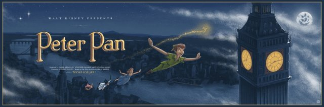 「ピーターパン」Peter Pan Poster by JC Richard