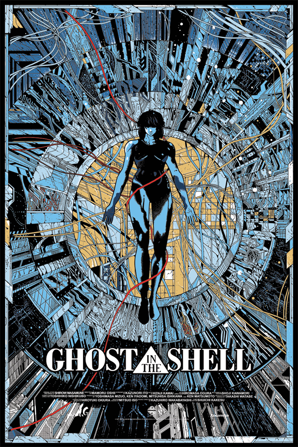 「攻殻機動隊」 GHOST IN THE SHELL Poster by Kilian Eng 24″ x 36″ Edition of 325