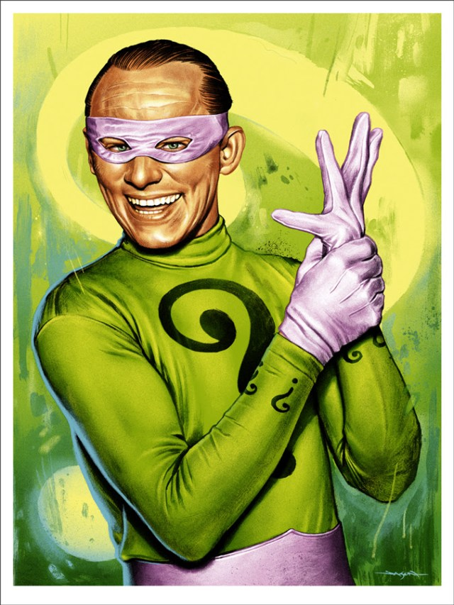 "「ナゾラー」 The Riddler  by Jason Edmiston.  18""x24"" screen print. Hand numbered. Edition of 200.  Printed by D&L Screenprinting.  US$45"