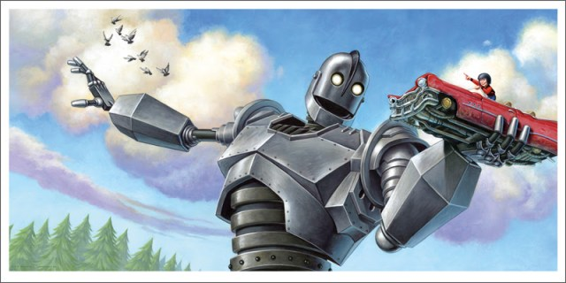 "「アイアン・ジャイアント(車)」 The Iron Giant (Car)  by Jason Edmiston.  24""x12"" giclee. Hand numbered. Edition of 110.  Printed by Static Medium.  US$65"
