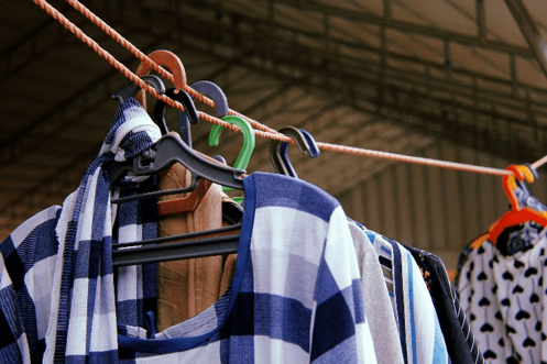 clothes on a hanger