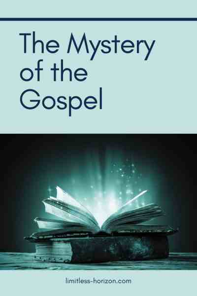 The mystery of the gospel - a picture of an open book with light streaming out