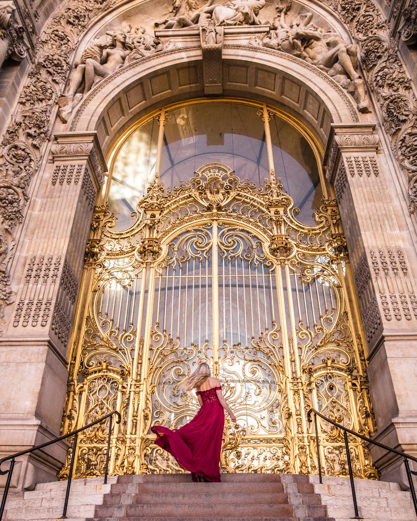 The door of the Petit Palais in Paris
