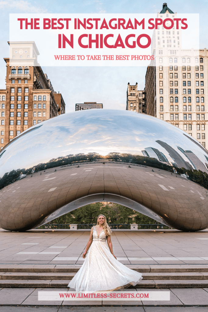 The Best Instagram Spots in Chicago! Here are the best places to take photos in the beautiful city of Chicago (USA). It includes all the famous landmarks, murals and much more! You will love to discover the most Instagrammable places in Chicago! Chicago photography   Chicago travel guide   Chicago trip   What to see in Chicago   Where to take photos in Chicago   The best of Chicago   where to take photos in Chicago   Photo spots in Chicago