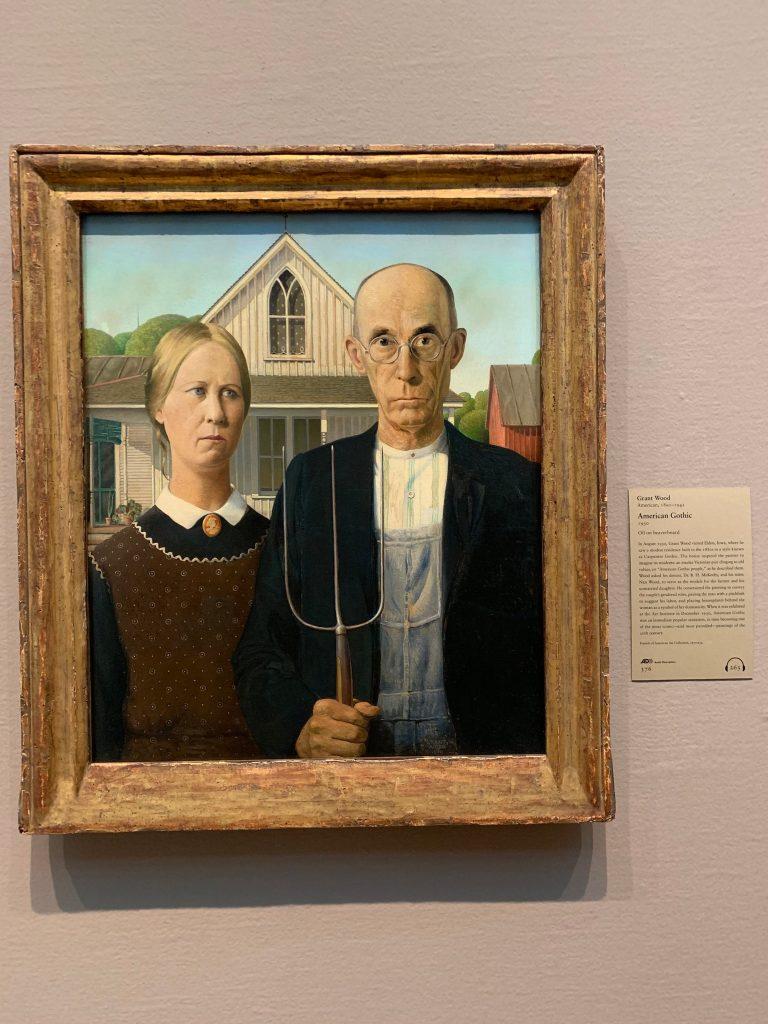 Grant Wood - American Gothic, Art of Institute Chicago