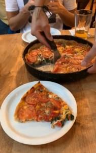 Deep dish pizza Lou Malnati