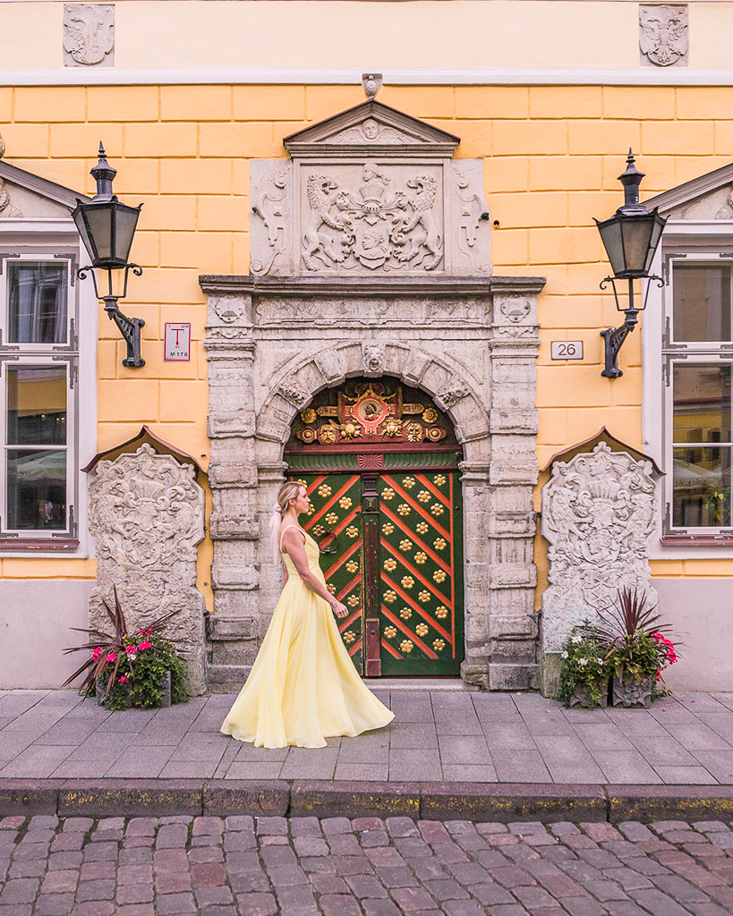 Door of the House of the Brotherhood of Black Heads - Tallinn, Estonia