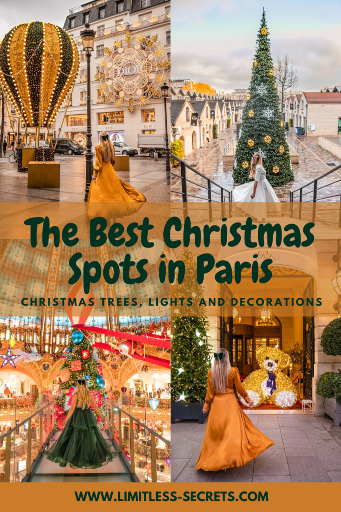 The Best Christmas photo spots in Paris! Christmas season is really a great moment to visit Paris! The city is really magical with its Christmas trees, dazzling lights and Santa vibes everywhere! I am sharing with you this guide with all the places you should not miss: the best places to enjoy Christmas in Paris! Paris Christmas photography | Where to take photos in Paris during Christmas | Experience Christmas in Paris | Christmas locations to visit in Paris | Noël à Paris